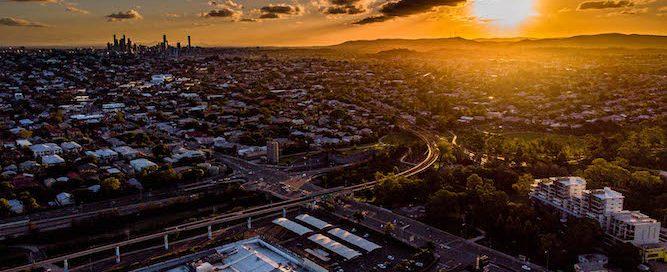 Aerial photo - Toombul sunset