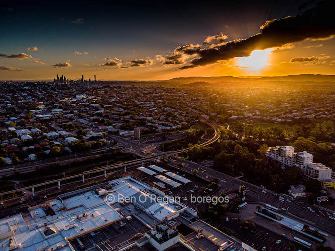 Aerial photo - Toombul sunset