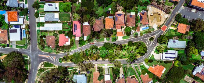 Aerial photo - Kanumbra St, Coorparoo, Brisbane